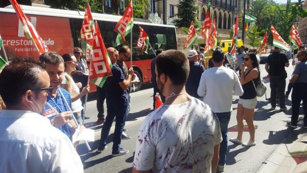 Concentración de trabajadores de Heredores de Gómez