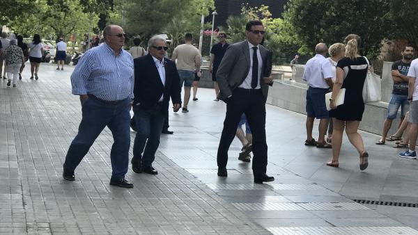 El expresidente de la Diputación de Valencia, Alfonso Rus, a su llegada a la Ciudad de la Justicia de València