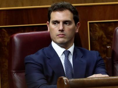 El líder de Ciudadanos Albert Rivera, durante la primera jornada del debate de investidura.