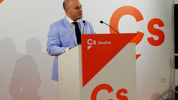 El portavoz de Cs y diputado provincial por Huelva, Julio Díaz.