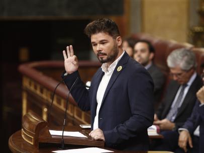 Rufián (ERC) afea a Sánchez su silencio sobre Catalunya: 'O es usted un irrespon