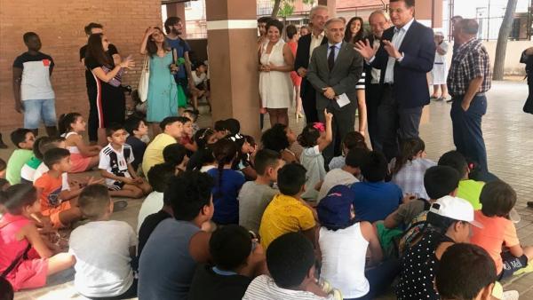Visita a la escuela de verano de la zona Norte de Granada
