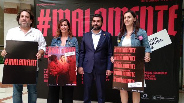 Foto del spot de la campaña 'Malamente' de la Generalitat contra las violencias machistas.