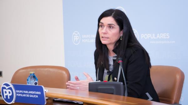 La viceportavoz del PP en el Parlamento de Galicia, Paula Prado.