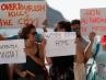 Protestas contra el rodaje de Allen en Donostia