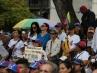 Simpatizantes de Juan Guaidó en Venezuela