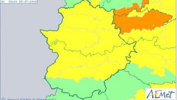 Alertas por calor en Extremadura para el 24 de julio