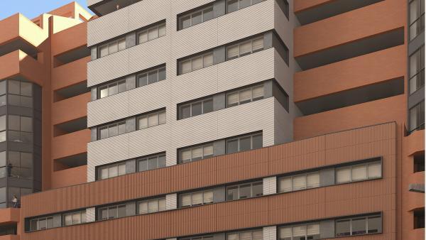 Fachada del edificio Buenos Aires en República Argentina