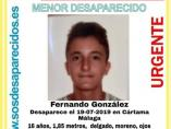 Alerta de desaparición de Fernando González.