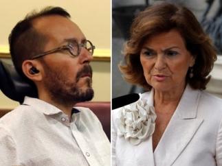 Pablo Echenique y Carmen Calvo