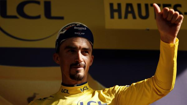 Julian Alaphilippe, lider del Tour de Francia tras la decimoséptima etapa