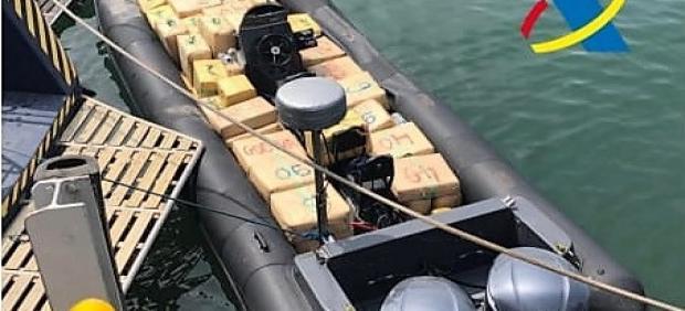Embarcación con droga incautada en Sanlúcar