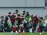 Cesinha imita la celebración de Cristiano Ronaldo