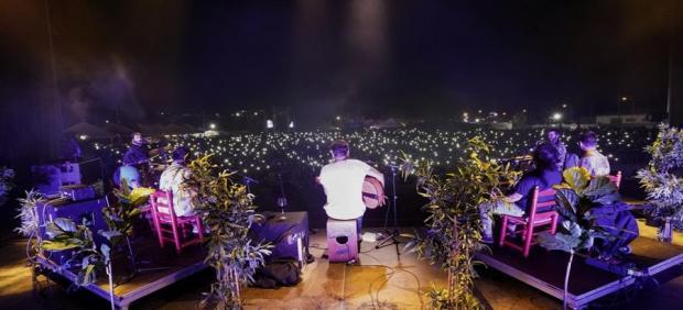 Una de las actuaciones del Festival Cabo de Plata de Barbate (Cádiz)
