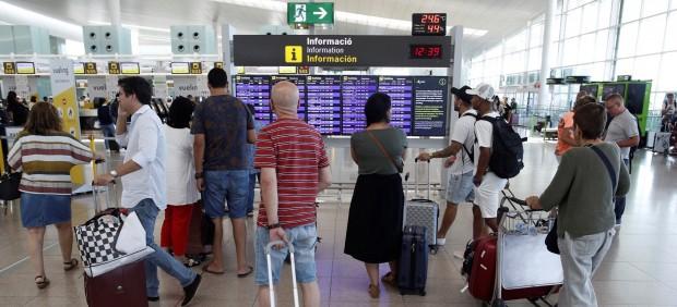 Huelga en el aeropuerto de Barcelona-El Prat