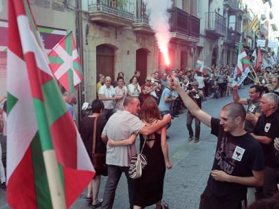 Liberación del etarra Xabier Ugarte