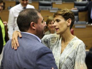 María Chivite y Unai Hualde