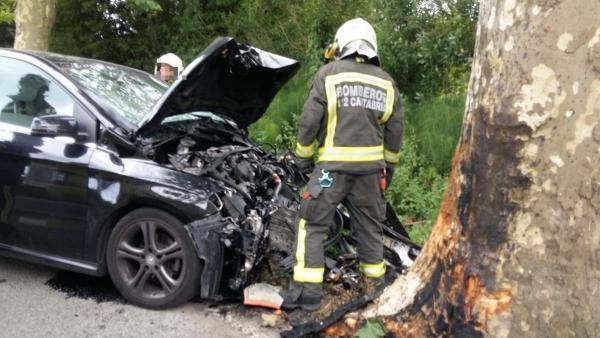 Accidente de tráfico en Escalante, Cantabria