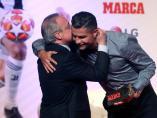 Florentino Pérez, con Cristiano Ronaldo en la entrega del 'Marca Leyenda'