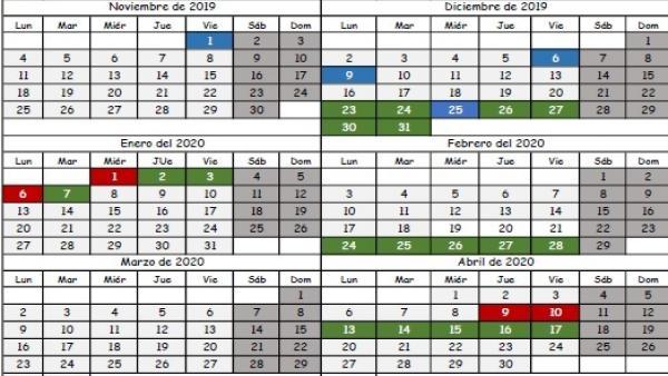Calendario Loteria Nacional 2020.Educacion Incluira Una Prevision Adicional En La Orden Del