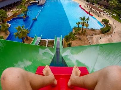 Imagen del tobogán 'Banzai' del Aqualand de Mallorca