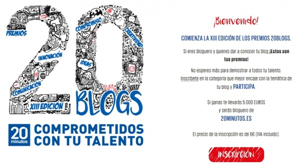 Microsite premios 20blogs