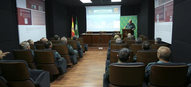 Los nuevos Guardias Civiles durante el acto de presentación