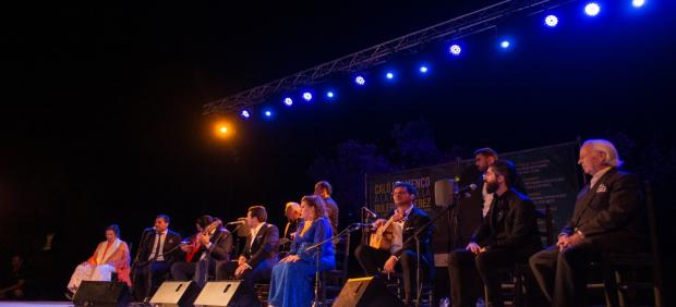 Actuación de la peña Los Cernícalos en el penúltimo 'Viernes Flamenco' del ciclo 'Caló Flamenco a la 52º fiesta de la Buleria'