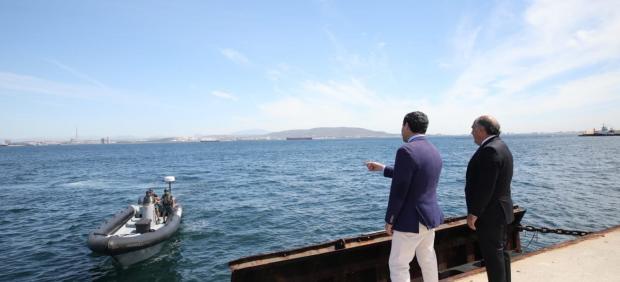 Juanma Moreno en Algeciras junto a José Ignacio Landaluce