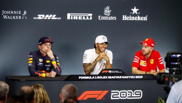 Hamilton, Verstappen y Vettel