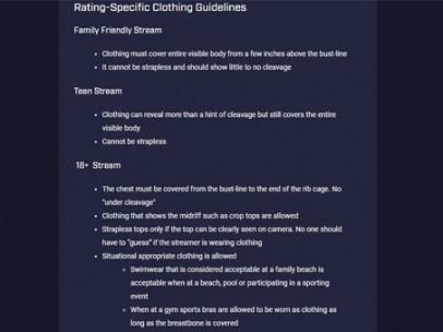 Normas de vestimenta de Mixer, la plataforma de 'streaming' de Microsoft
