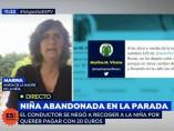 Fotgrama de 'Espejo Público' en el momento en el que la amiga de la familia de la menor denuncia los hechos.