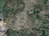 Vista satelital de Achinsk, ciudad donde ha sucedido la explosión.