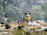 Helicóptero de las BRIF en el incendio de La Granja (Segovia)