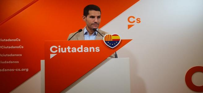 El diputado de Cs en el Parlament de Catalunya, Nacho Martín Blanco