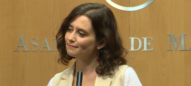 La candidata popular a la presidencia de la Comunida de Madrid, Isabel Díaz Ayuso