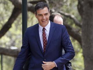 Pedro Sánchez, en el Palacio de Marivent