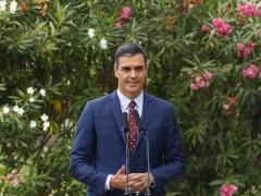 Pedro Sánchez compadece desde el palacio de Marivent