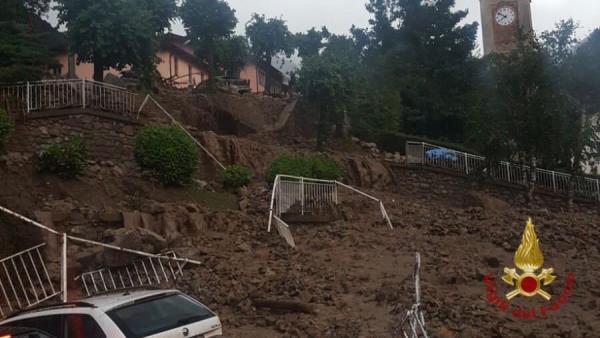Deslizamiento de tierra en Italia