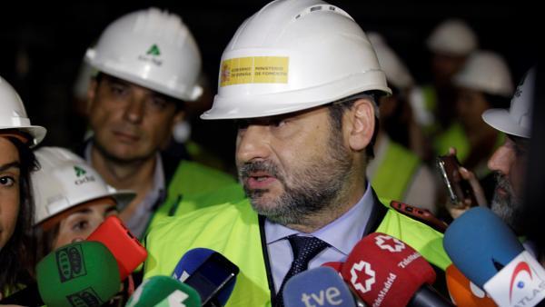 José Luis Ábalos en la revisión de este jueves del túnel de Recoletos, donde ha realizado las declaraciones.