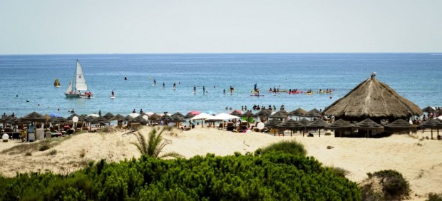 Imagen de una playa de Elche.