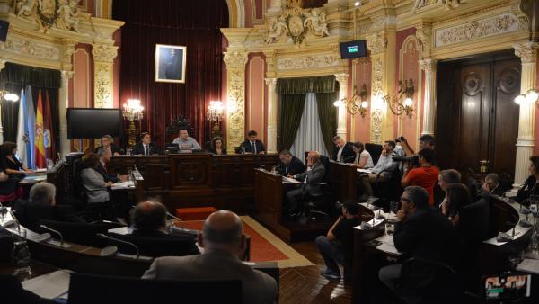 PLeno en el Ayuntamiento de Ourense.