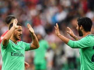 Hazard e Isco, con el Real Madrid