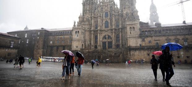 Lluvia en Santiago