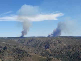 Incendio en el Parque Natural de las Arribes del Duero.
