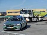 Huelga de transportistas de mercancías peligrosas en Portugal.