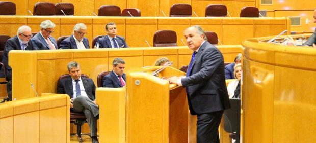 El alcalde de Algeciras, José Ignacio Landaluce, en el Senado