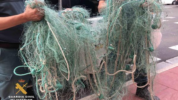 Redes intervenidas al grupo denunciado por pesca ilegal en La Rioja