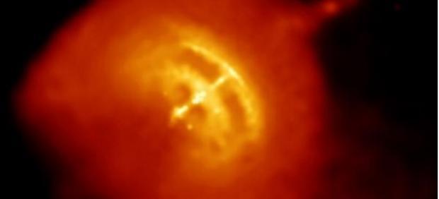 El Pulsar de Vela y su nebulosa circundante.