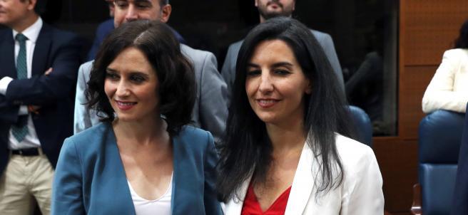 Isabel Díaz Ayuso (PP) y Rocío Monasterio (Vox)